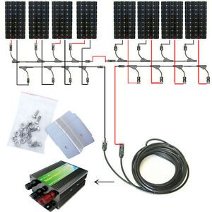 160w 300w 600w 900w 1200w Off Grid Complete Kit 160watts