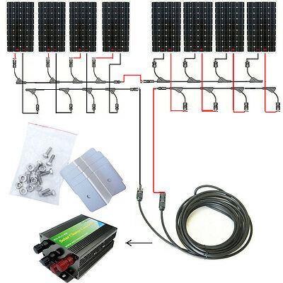 160W 300W 600W 900W 1200W Off Grid Complete Kit:160W Solar Panel 12V/24V Charger