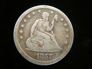 1857-U-S-SEATED-LIBERTY-QUARTER-NICE-AND-NATURAL-COIN-WITH-DETAIL-VAR-1