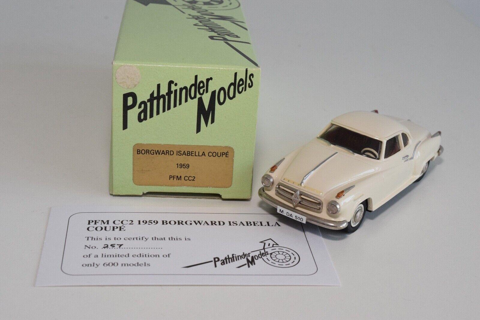 FF 1 43 PATHFINDER PFM CC2 PFMCC2 BORGWARD ISABELLA COUPE 1959 MIB RARE 257 600