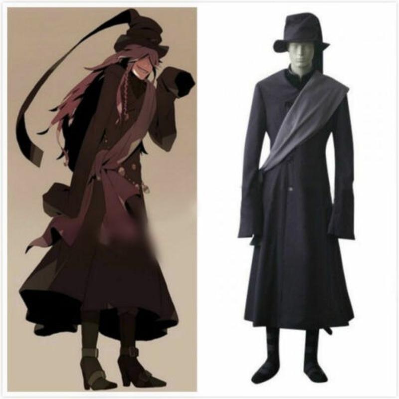Black Butler Kuroshitsuji Undertaker Full Set Cosplay Costume outfit Halloween