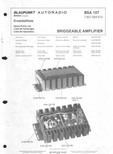 Blaupunkt Service Manual für BSA 107  Copy