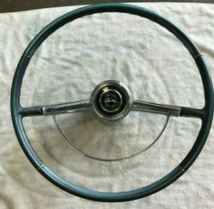1964 GM Chevy Impala original steering wheel horn ring n ...