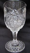 EAPG Pattern Glass Westmoreland #574 Fern Wheel, Paddle Wheel Wine Goblet