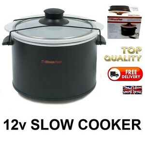 MOTORHOME-12v-Slow-Cooker-Cook-Pot-Sealing-Lid-IDEAL-12-Volt-SELF-BUILD-CAMPER
