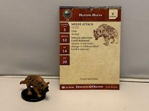 Dungeons & Dragons Hunting Hyena # 47WOTC D&D Minature w/card