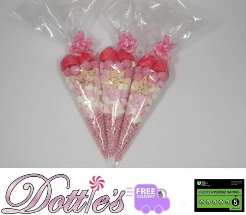 Pre Filled Sweet Cones Party Bags Hen Do Wedding Christening Favours Halal