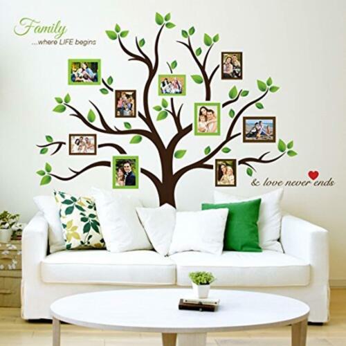resalte su ho Calcomanías para pared de árbol genealógico con portarretratos