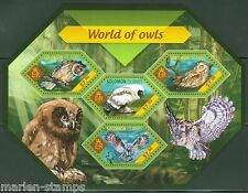 SOLOMON ISLANDS  2014 WORLD OF OWLS  SHEET  MINT NH