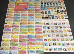 3 MNH Sheets Mail in Stickers fBook/Record Clubs Do You Remember 1332