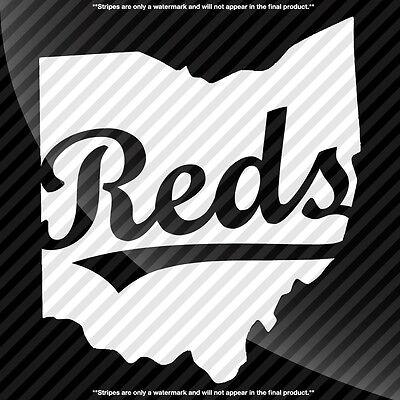 TONS OF OPTIONS Cincinnati Reds C Ohio OH State Pride Decal Sticker