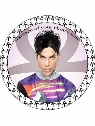 PRINCE Custom artist singer Round personalised Edible Cake Topper Wafer Icing