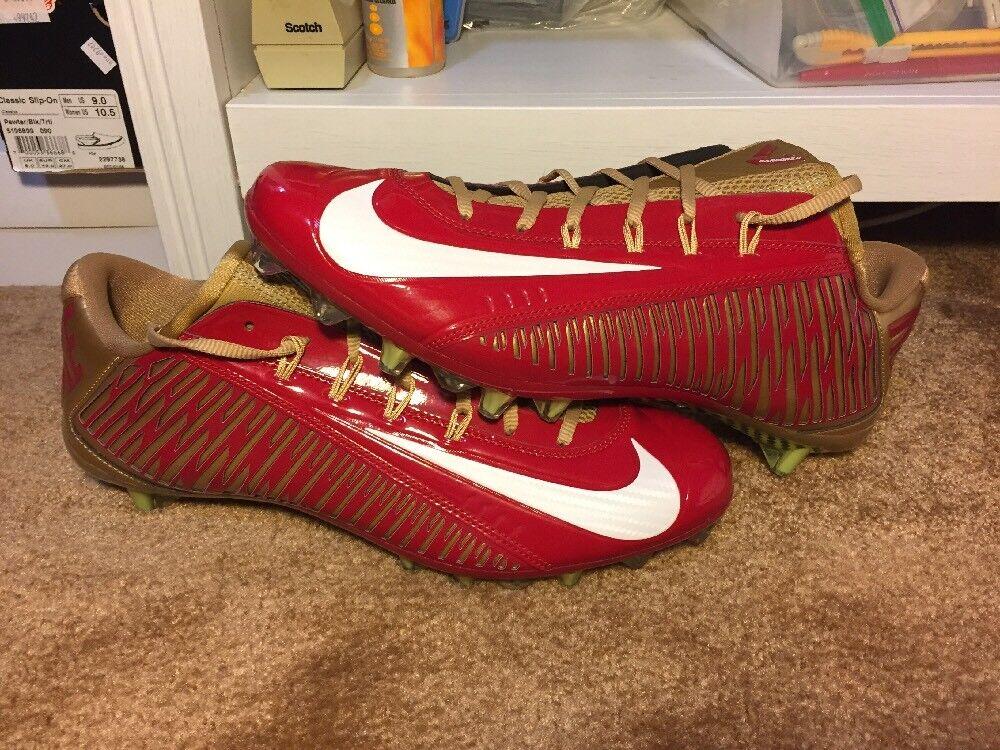 New Nike Vapor Carbon Elite 2014 TD Red Gold Size 12 Football (657441-628)