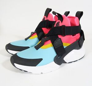 pretty nice 837a0 0ed60 New Womens Nike Air Huarache City Shoes Pink Blue Yellow ...