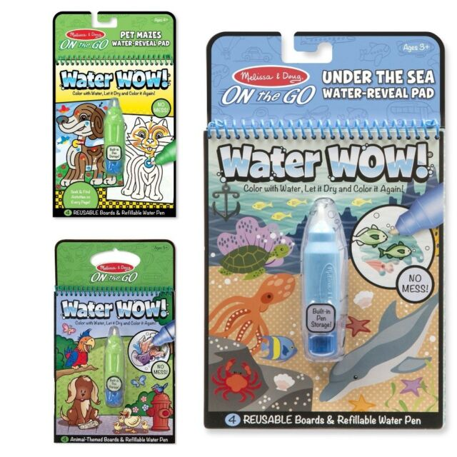 Melissa /& Doug On The Go Space Water Wow Reusable Mess-Free Water-Reveal Activity Pad