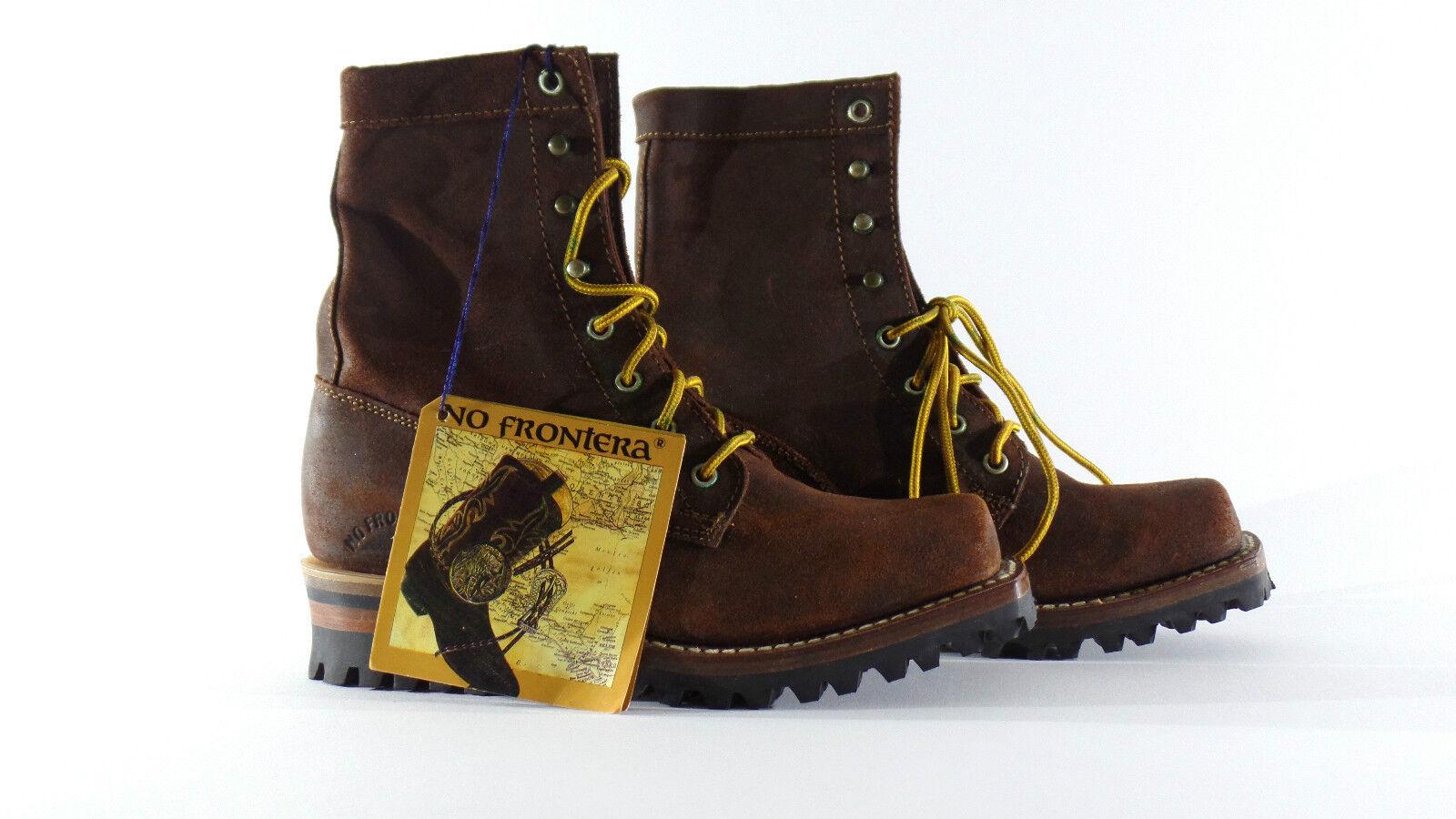 Westernstiefelette laborales vaquero Boot 37 marrón con cordones méxico nuevo...