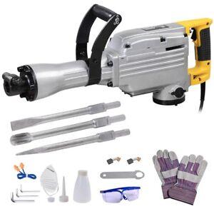 1700w Electric Demolition Jack Hammer Drill Concrete Breaker Tool Case INCD VAT