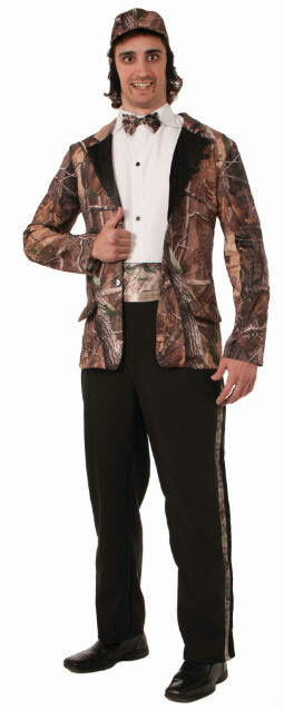 Hunting for Love Mens Duck Hunter Camo Camoflauge Groom Wedding Tuxedo Halloween