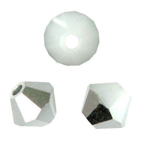 20 Perles Toupies 4mm cristal Swarovski WHITE ALABASTER CAL