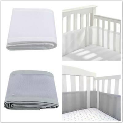 Respirant baby crib liner bumper mesh 4-verso berceau suffocation prévention