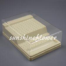 Dental Bur Block Holder Station Plastic Holds 168 Burs Ra Fg Disinfection Box