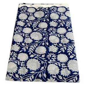 5-Yard-Dress-Sewing-Material-Indian-Hand-Block-Floral-Print-Cotton-Voile-Fabric