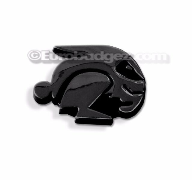 1 - NEW GTI FAST BUNNY EVIL RABBIT HARE Badge Emblem fits VW FAST GLOSS BLACK
