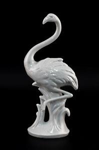 9942849-Porcelain-Figurine-Bird-Flamingo-White-Wagner-amp-Apel-H23cm