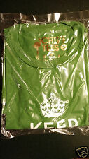 Mens SMALL KEEP CALM AND CHIVE ON shirt GOLD QR UNOPENED IN CHIVE BAG NEW BUY