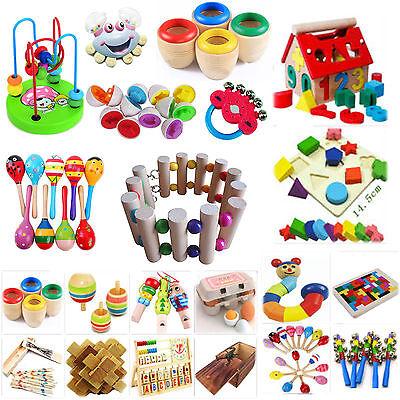 B Funny Wooden Toy Gift Baby Kid Children Intellectual Developmental Educational
