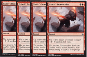 War of the Spark Red Common NM SHIPS 5//3-4x Nahiri/'s Stoneblades