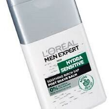 New!!! 2 x LOREAL MEN EXPERT HYDRA SENSITIVE Post SHAVE BALM  125 ML Each