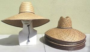 af9a6be96adcc Wholesale Lot Of Straw Hats With Adjustable String One Size Unisex ...