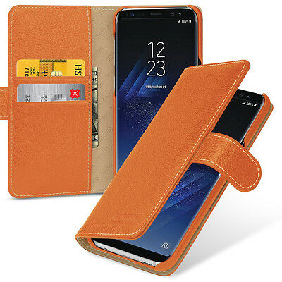 TETDED Premium Leather Case for Samsung Galaxy S8+ -- Gerzat (LC: Orange)