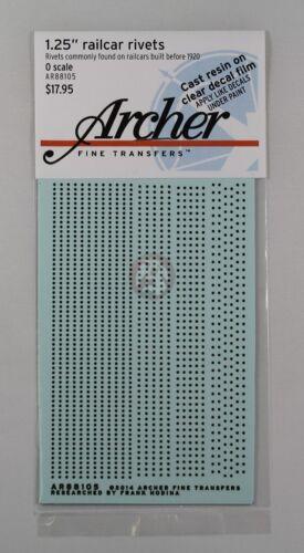 """Archer O-Scale 1.25/"""" Rail Car Single Row Rivets for pre-1920 AR88105 1//48"""