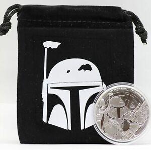Plastic Capsules! Darth Vader /& Boba Fett Niue 1 oz .999 Silver Coins Star Wars