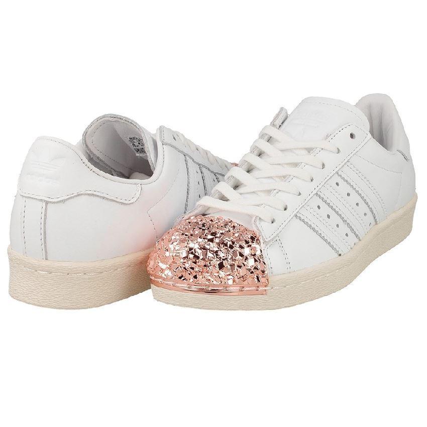 Adidas Homme Superstar 80 S Chaussures De Sport Baskets Blanc/RoseOr (BB2034)