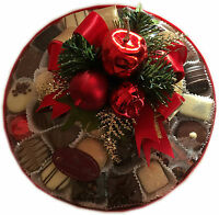 Assorted Hand Made Belgian Chocolate Platter 9 Christmas Decorated 650g