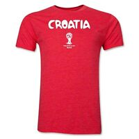 Croatia World Cup Wc 2014 Soccer Super Soft Official Fan Shirt Brand Red