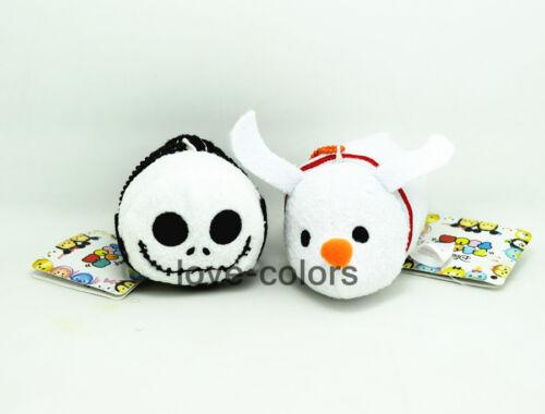 3 1/2 New Disney The Nightmare Before Christmas Tsum Tsum plush Toy Jack & Zero