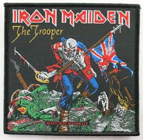 ro Iron Maiden The Trooper sew-on cloth patch 100mm x 95mm