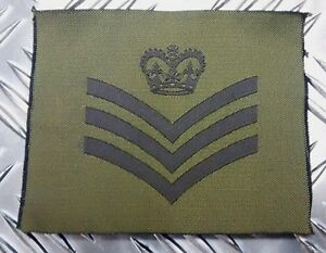 Genuine-British-Army-Green-Desert-OD-DS-Subdued-Assorted-Rank-Badges-x-2-NEW