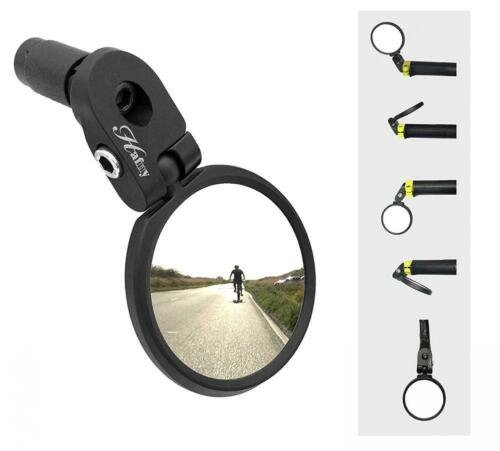 Hafny Bar End Bike Mirror Safe Rearview Mirror Stainless Steel Lens