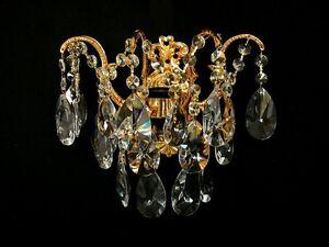 Kronleuchter Kristall Silber ~ Kristall wandlampe mit feinem echt kristall *gold o. silber* pass