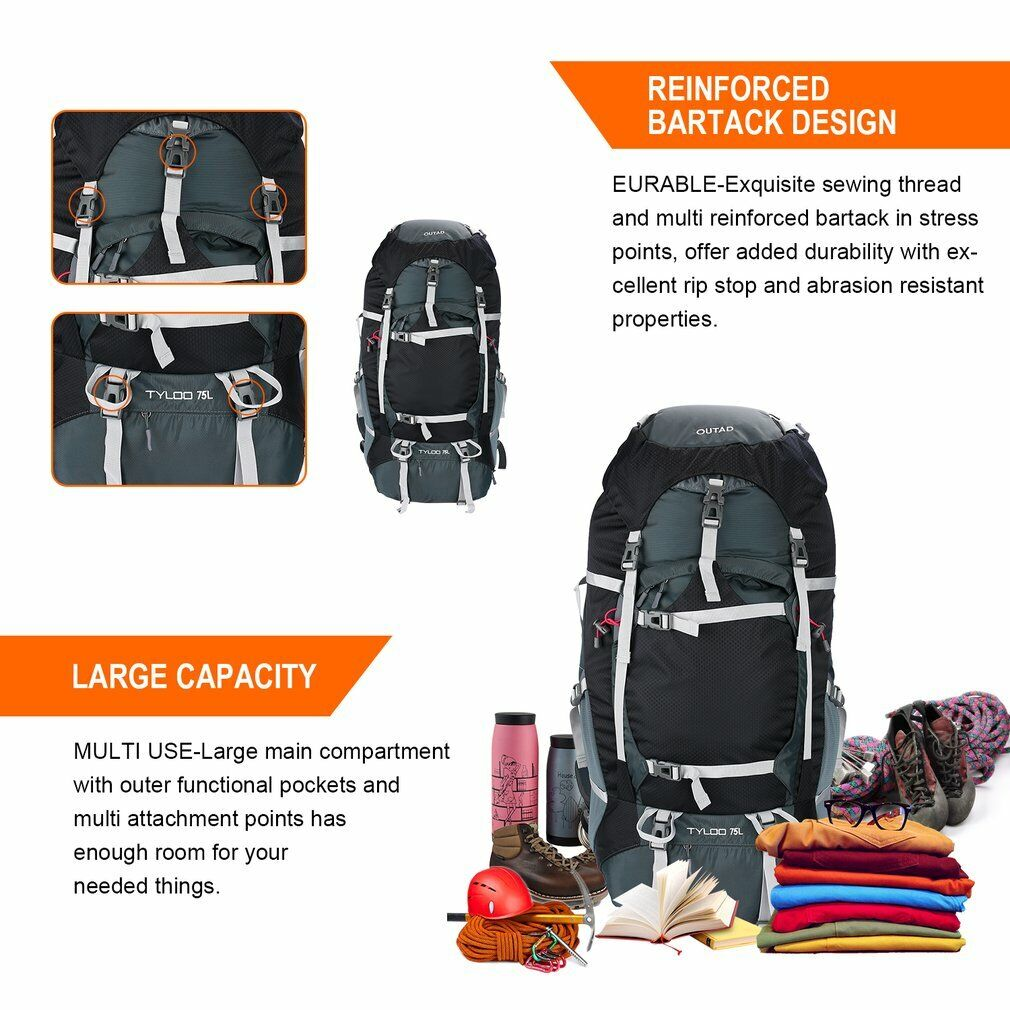 Details about  /Dual-use Folding Backpack Unisex Lightweight Outdoor Hiking Mountaineering Bag