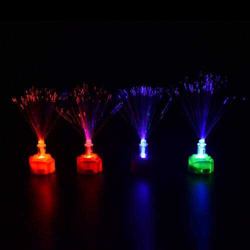 Color Changing LED Fiber Optic Night Light Lamp Stand Home Decor ColorfulFDFH