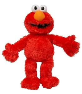 Sesamstrase-Stuffed-Tickle-Mich-Elmo-with-Sound-45cm-Tickle-Me-Doll-Toy