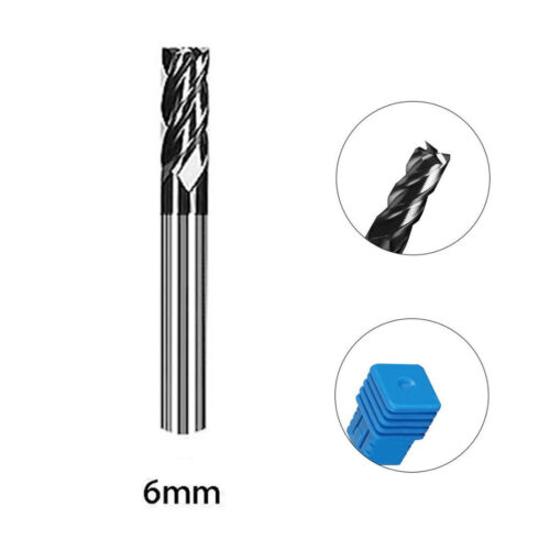 Solid Carbide Straight End Mill 4 Flute Milling Cutter Drill Bit Kit 1-12mm BU