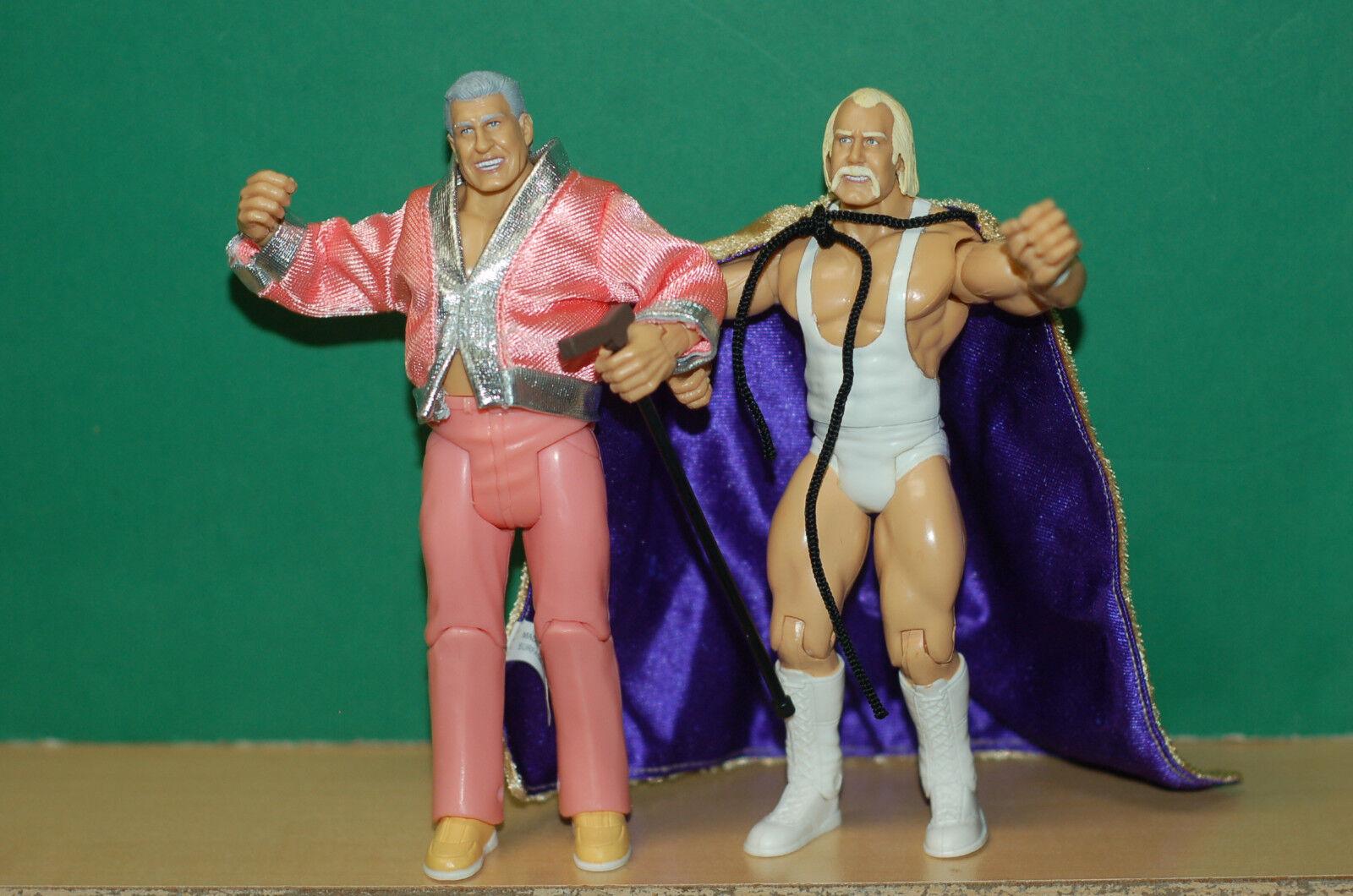 WWE WWF Classic Superstars Hulk Hogan Freddie Blassie wrestling figure lot Jakks