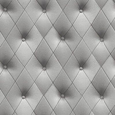 LL29571 Wallpaper Grey Silver Faux Upholstered Look Prepasted Vinyl Sidewall